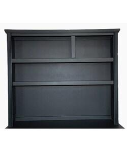 Solid Wood Black 6-drawer Double Dresser