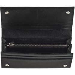 prada purse discount - Prada Women\u0026#39;s Black Continental Wallet - 11239062 - Overstock.com ...