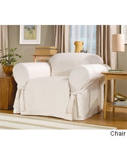 Sure Fit Cotton Duck Washable Chair Slipcover