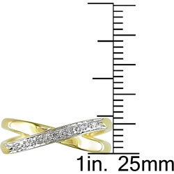 10k Yellow Gold Diamond Accent Double-band Ring