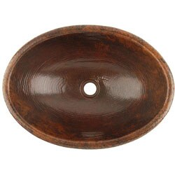 Fontaine Oval Copper Surface Mount Sink