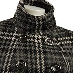 Miss Sixty Women's Plaid Babydoll Coat