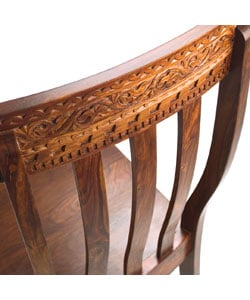 Set of Two Carved Back Dining Chair (India)