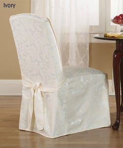 Damask Scroll Dining Room Chair Covers Set Of Two