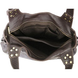 Amerileather Drawstring Leather Bag