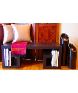 Asian Dark Mahogany Bench