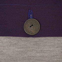 Silver and Cobalt Blue Thai Silk Cushion Cover