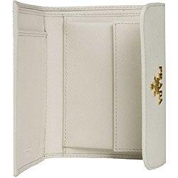 Prada White Saffiano Metal Tri-fold Wallet - 11440568 - Overstock ...