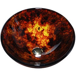 Kraus 14-inch Fire Opal Glass Vessel Sink