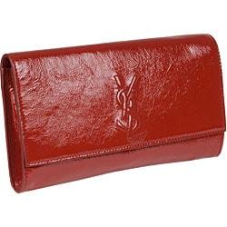 YSL \u0026#39;New Pochette\u0026#39; Red Patent Leather Clutch - 11455576 ...