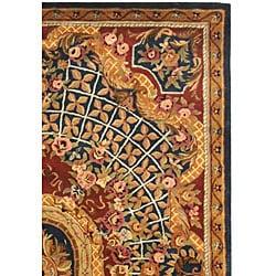Safavieh Handmade Empire Royal Blue/ Burgundy Wool Rug (9'6 x 13'6)