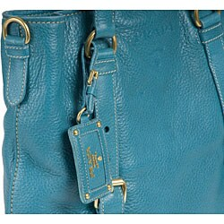 Prada \u0026#39;Cervo Folding\u0026#39; Turquoise Deerskin Tote Bag - 11490654 ...