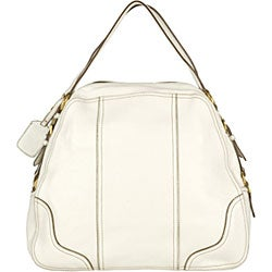 Prada Cervo Antik White Deerskin Shoulder Bag - 11500965 ...