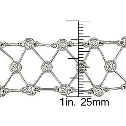 Miadora 18k White Gold 1 7/8ct TDW Diamond Bracelet (G-H, VS-SI)