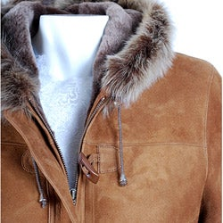 Women's Shearling Toggle Jacket
