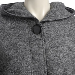 Hilary Radley Women's New York Tweed Boiled Wool Caplet