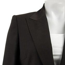 Anne Klein Women's Espresso Pinstripe Suit