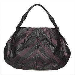 Prada Vitellino Mordo Black/ Purple Hobo Bag