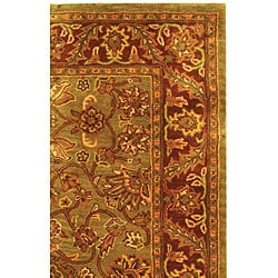 Safavieh Handmade Golden Jaipur Green/ Rust Wool Rug (5' x 8')