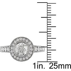 Miadora 14k Gold 1 3/8ct TDW Diamond Vintage-style Ring (I-J, I1-I2)