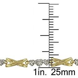 Miadora 10k Gold Diamond Accent Link Bracelet