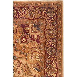 Handmade Classic Heriz Gold/ Red Wool Rug (8'3 x 11)