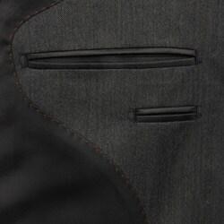Carlo Palazzi Men's Grey Herringbone Wool Suit