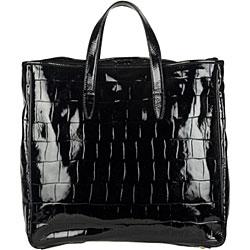 Yves Saint Laurent \u0026#39;Raspail\u0026#39; Large Black Croc Tote - 11889761 ...