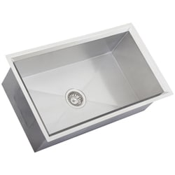 Ticor Square Undermount 16 Gauge Stainless Steel Beveled Kitchen Sink