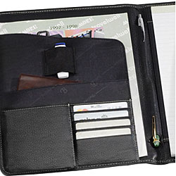 Biltmore Black Napa Leather Executive Padfolio