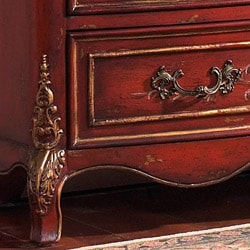 Hand-painted Ruby Accent Chest