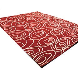 Wool Red Shelby Rug (7'9 x 9'9)