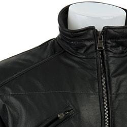 Calvin Klein Men's Black Leather Jacket - Overstock Shopping - Big