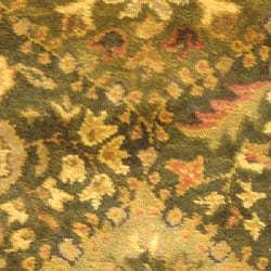Handmade Tabriz Olive Wool Runner (2'3 x 4')