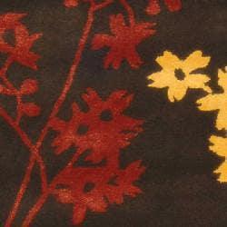 Handmade Soho Autumn Brown New Zealand Wool Runner (2'6 x 12')