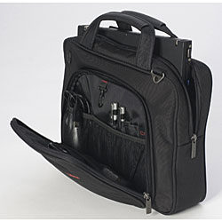 CODi Protege Lightweight 15.4-inch Nylon and Leather Laptop Briefcase