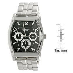 Geneva Platinum Men's Chronograph Link Watch