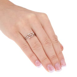 10k White Gold 1/10ct TDW Diamond Ring (I-J, I2-I3)