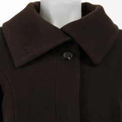Cole Haan Women's Wool/ Cashmere A-line Coat