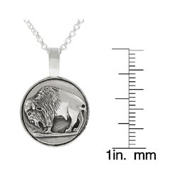 Tressa Sterling Silver Buffalo Coin Necklace