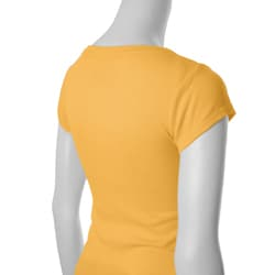 Self Esteem Junior's Scoop-neck Cap Sleeve Ribbed Top