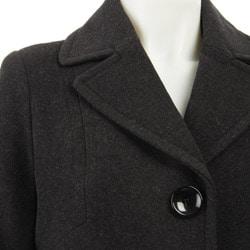 AK Anne Klein Women's Single-breasted Walker Coat