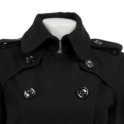 London Fog Women's Double-breasted Military Wool Walker