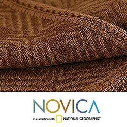 'Earth Echo' Alpaca Wool Throw Blanket (Peru)