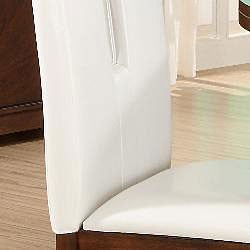 Lancaster Open Back White Upholstered Dining Chair (Set of 2)