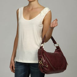Presa 'Maggie' Leather Slouchy Hobo Bag