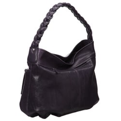 Presa 'Cordoba' Braided Handle Leather Hobo-style Bag