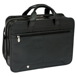 McKlein Walton Leather Double Compartment Laptop Briefcase
