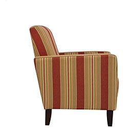 Portfolio Gia Crimson Red Stripe Urban Arm Chair