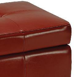 Safavieh Lorenzo Red Flip-top Storage Ottoman